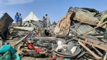 صورة من آثار الحريق (المصدر:الصحراء)