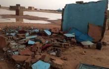 أضرار مادية بسبب الأمطار والعواصف في ألاك- المصدر (فيسبوك(