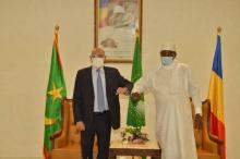 الرئيس غزواني مع نظيره اتشادي ـ (المصدر: الإنترنت)