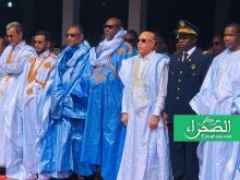 الرئيس غزواني خلال افتتاح النسخة الأخيرة من المهرجان- أرشيف الصحراء