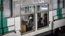 مترو الأنفاق بباريس في 6 أبريل 2020 © أ ف ب