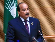 الرئيس السابق محمد ولد عبدالعزيز في آخر ظهور إعلامي له - (المصدر: الإنترنت)