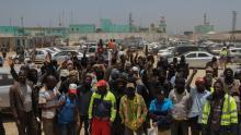 حمالة ميناء نواكشوط خلال الإضراب - أرشيف