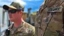جنديان أمريكيان في الموصل في 30 آذار/مارس 2020. © أ ف ب