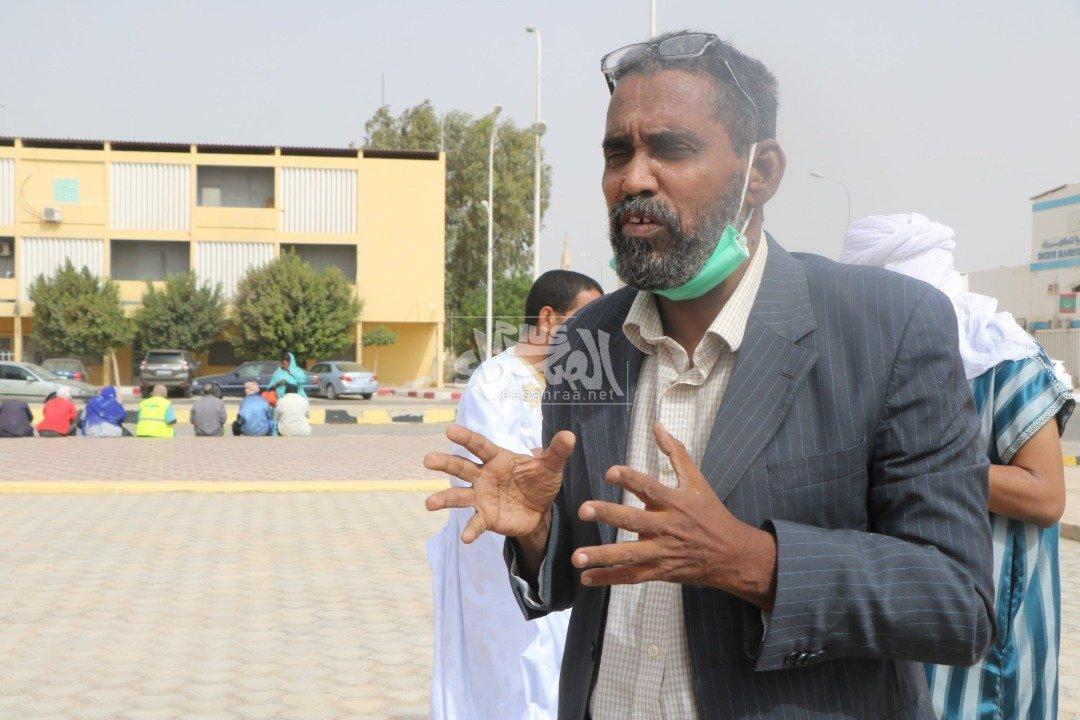 مرضى الفشل الكلوي يحتجون أمام الرئاسة ــ (المصدر:الصحراء)
